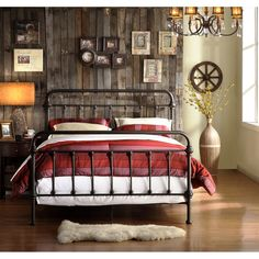CLASSIC ANTIQUE VINTAGE STYLE SPINDLE METAL BED FULL SIZE New
