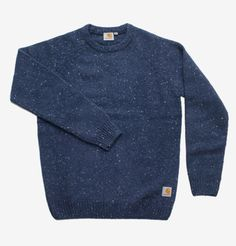 Carhartt - Anglistic Sweater in Blue Heather
