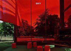 Serpentine pavillion, london....the sky is red!