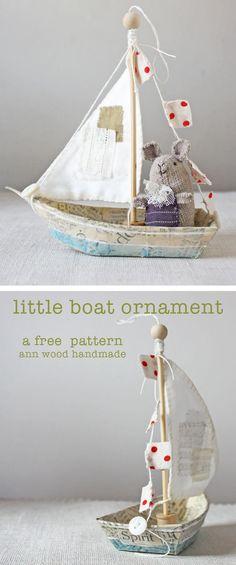 paper mache boat ornament a free tutorial - send somebody little to sea!