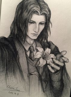 Come, Sleep in My Grave. — Young Severus……I'm gonna paint thisportrait one...