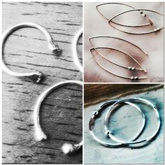 Midi girlfriend rings, skinny spinnerette stackers and spinnerette wishbone open hoop earrings - all in sterling & gifted to the press!