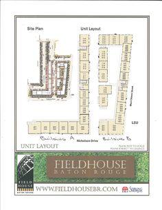 LSU Baton Rouge, LA  Field house condo layout