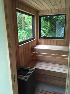 Sanctum Garden Studios created the shell of this building which their customer finished themselves creating a bespoke sauna in the garden. Cool Swimming Pools, Natural Swimming Pools, Swimming Pool Designs, Lap Pools, Natural Pools, Indoor Pools, Sauna Design, Design Design, Interior Design