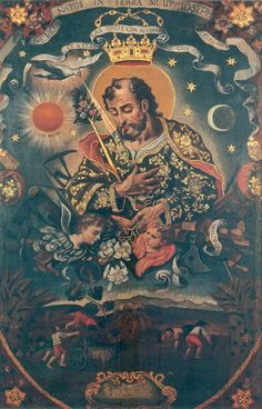 Spouse of the Blessed Virgin Mary and foster-father of Our Lord Jesus Christ. The chief sources of information on the life of St. Joseph are the first chapters of our first and third Gospels; they are practically also Religious Icons, Religious Art, Gospel Of James, Mama Mary, Biblical Art, Santa Teresa, Blessed Virgin Mary, Catholic Art, Holy Family