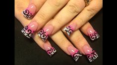 Black Swirls - Nail Art Gallery