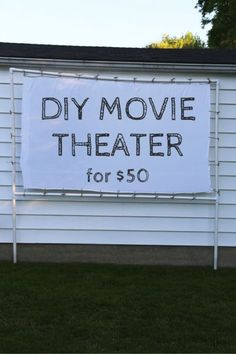 Transform Your Backyard into a DIY Outdoor Movie Theater