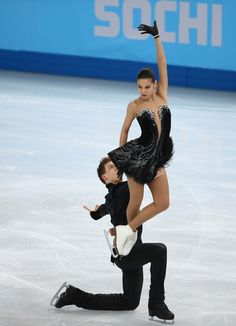 Elena Ilinykh and Nikita Katsalapov of Russia compete in the Team Ice Dance Free Dance Skating during day 2 of the Sochi 2014 Winter Olympic...