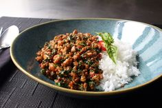 Spicy Thai Basil Chicken (Pad Krapow Gai) Recipe | Allrecipes Asian Recipes, Healthy Recipes, Ethnic Recipes, Healthy Breakfasts, Healthy Snacks, Great Recipes, Dinner Recipes, Easy Recipes, Gastronomia