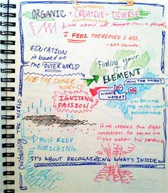 Doodle notes on Sir Ken Robinson's talk at Omega Institute.  Notes by Sasha Zwiebel