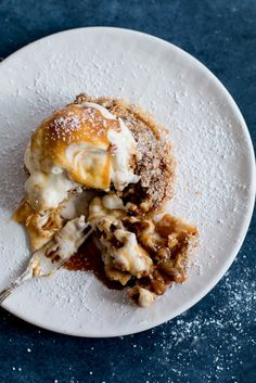 Apple & Walnut Crumble Tarts with Miso Butterscotch Ice Cream - The Brick Kitchen
