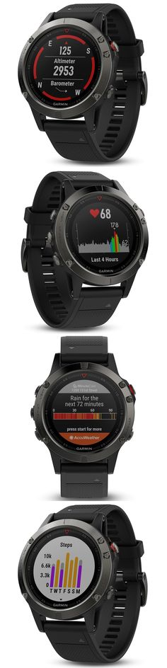 GPS and Running Watches 75230: Garmin Fenix 5 Slate Gray With Black Band Gps/Glonass Fitness Watch 010-01688-00 BUY IT NOW ONLY: $599.99