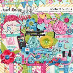 Sorta Fabulous digital scrapbooking kit by Meghan Mullens, Megan Turnidge & Studio Flergs