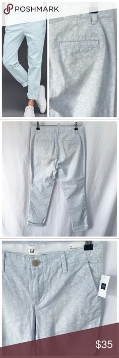 7de3f143 NWT | Gap | Girlfriend Chino These chinos are light blue with barely-there  white