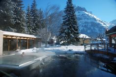 Brave the cold to witness the views on offer when sitting outside in this hotels #steaming #heated #hottub