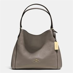 COACH Edie Shoulder Bag 31 in Refined Pebble Leather $325