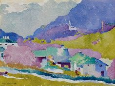 AUGUSTO GIACOMETTI (1877-1947) | Bergell, um 1911-15 | SWISS ART Auction | 1910s, Drawings & Watercolors | Christie's