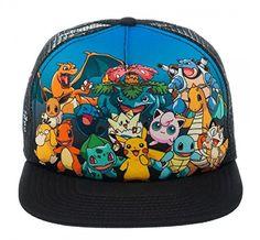 c5dddc15716 Pokemon Group Photo Foam Mesh Trucker Pokémon http   www.amazon.com