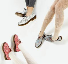 Anyway these latest designs from Dr Martens, via Fabfrocks, are a great combination of girly and tough, sweet and sharp – I love the idea of pairing them with floral dresses and cool pastel tights, or acid wash jeans and oversized shirts or blazers . . . very Sartorialist, don't you think? (I wish!)