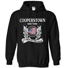 COOPERSTOWN- Its where my story begins! - #tshirt yarn #hoodie novios. ORDER HERE => https://www.sunfrog.com/No-Category/COOPERSTOWN-Its-where-my-story-begins-9832-Black-Hoodie.html?68278