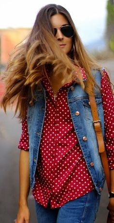Denim And Dots by Marilyn's Closet