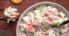 Seafood Salad Recipes Imitation Crab is One Of Beloved Salad Recipes Of Numerous Persons Round the World. Besides Easy to Make and Good Taste, This Seafood Salad Recipes Imitation Crab Also Health Indeed. Sea Food Salad Recipes, Crab Recipes, Healthy Recipes, Lobster Recipes, Yummy Recipes, Seafood Salad, Seafood Dishes, Seafood Appetizers, Seafood Dip