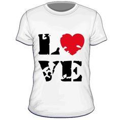 Maglietta personalizzata Love
