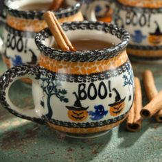 Halloween Polish Pottery Mug