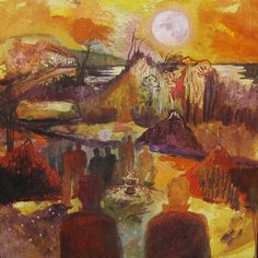 Deaths and Entrances. An exhibition of paintings by Dan Llywelyn Hall inspired by Dylan Thomas