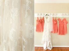 Coral Jcrew Bridesmaids dresses