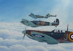 Spitfire Print featuring the painting Maintain Angels Two-four by Steven Heyen