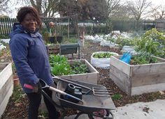 Community food growing champion, Geraldine Forbes from Transform project Woodberry Down Community Garden, Hackney.
