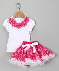 Take a look at this Hot Pink Top & Pettiskirt - Infant, Toddler & Girls by Royal Gem Clothing on today! Toddler Girl Outfits, Toddler Fashion, Kids Outfits, Kids Fashion, Toddler Girls, Little Girl Fashion, Little Girl Dresses, Cowgirl Tutu, Cowgirl Boots