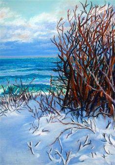 """Winter Blue"" - Original Fine Art for Sale - © Jill Bates"