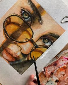 Watercolor painting by Humid Peach. Humid Peach is the name of the artist whose real name is Ksenia Kondyleva. Continue Reading and for more watercolor art → View Website Cool Art Drawings, Pencil Art Drawings, Realistic Drawings, Art Drawings Sketches, Art Illustrations, L'art Du Portrait, Gcse Art Sketchbook, Color Pencil Art, Colored Pencil Artwork