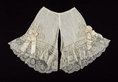 Pair of drawers French, About 1900. I need huge frilly sexy knickers like these, they are mint.