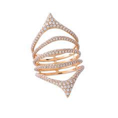 Etho Maria Pave Diamond Ring in Rose Gold | Rose Gold Rings | Designer Rose Gold…