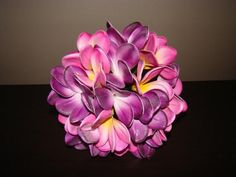 Pink & Purple Frangipani Bouquet by How Divine https://www.howdivine.com.au/store/product/pink-purple-real-touch-frangipani-bouquet