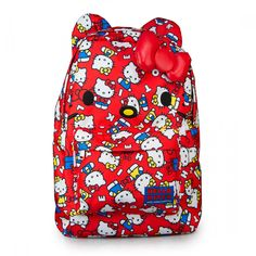 LOUNGEFLY HELLO KITTY BACKPACK ALL OVER PRINT 40TH ANNIVERSARY