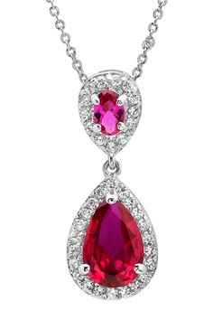 Simulated Ruby Necklace