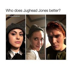 Who do you think pulls the look off best out of these three? It think Cami looks best (besides Cole. Duh) KJ looks like Robin Hood and Lili looks like she has no hair. Lol