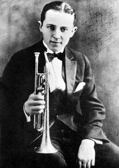 Bix Beiderbecke [1903, Davenport, IA - 1931, Sunnyside, New York City, NY] was an American jazz cornetist, jazz pianist, and composer. With Louis Armstrong and Muggsy Spanier, Beiderbecke was one of the most influential jazz soloists of the 1920s.