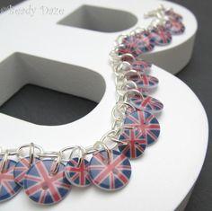 Celebration Daze button bracelet Union Jack £9.50
