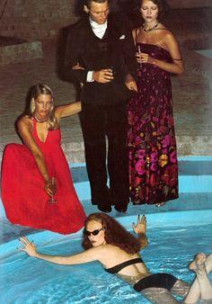 Grace Coddington by Helmut Newton, UK Vogue's October 1973.