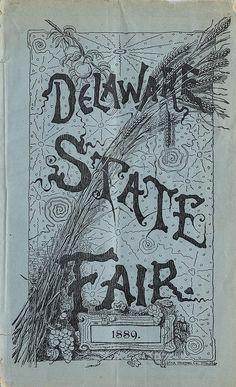 Delaware State Fair program 1889