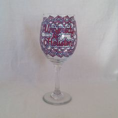 Hey, I found this really awesome Etsy listing at https://www.etsy.com/listing/277428140/university-of-houston-hand-painted-wine