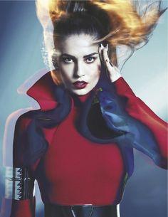 visual optimism; daily fashion fix.: electric lady: nadja bender by sebastian kim for numéro #135 august 2012