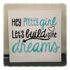 Country Quote Wall Decor Hey Pretty Girl by BeingBecca on Etsy, $15.00