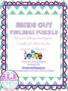 Free! Inside Out Feelings Puzzle