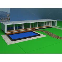 Metal Garage Buildings, Steel Structure Buildings, Metal Garages, Casas Containers, Prefab Homes, Villa, Stairs, Shipping Containers, Container Homes